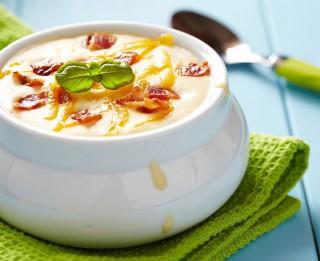 Kartupeļu - siera zupa