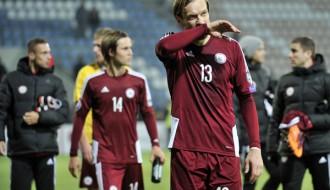 Foto: Futbolisti EURO 2016 kvalifikāciju noslēdz pēdējā vietā
