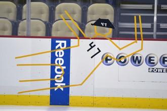 ''Penguins'' treniņā komandas biedri oriģināli izjoko Deprē