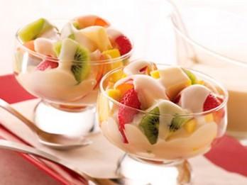 2 garšīgas augļu desertu receptes