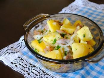 Kartupeļu salāti ar siļki