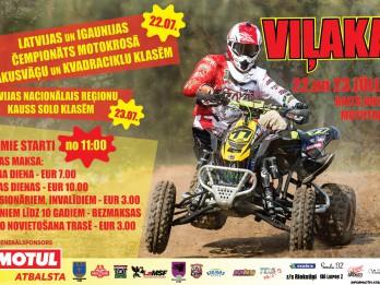 Šajā nedēļas nogalē iespaidīgas motokrosa sacensības Viļakā