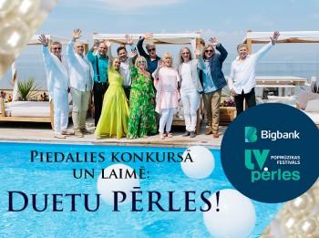 """Zināms uzvarētājs """"Bigbank Latvijas pērles"""" konkursam: DUETU PĒRLES"""