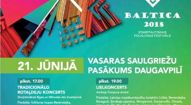 """Festivāla """"BALTICA 2018"""" dalībnieki Daugavpilī svinēs vasaras Saulgriežus"""