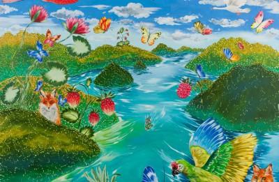"""Rīgas mākslas telpā būs skatāma gleznotājas Kristīnes Luīzes Avotiņas multimediāla izstāde """"Sapņu upe"""""""