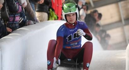 Kamaniņu braucējai Bērziņai astotā vieta junioru Pasaules kausa posmā