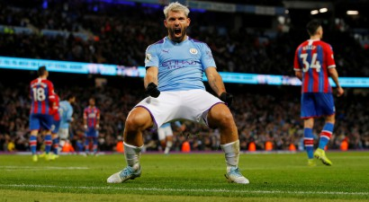 "Agvero dublis nepaglābj ""Manchester City"" no punktu zaudēšanas ""Crystal Palace"""