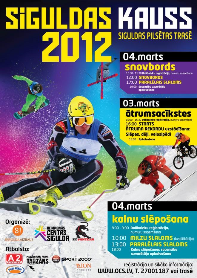 """Aizvadīts tradicionālais """"Siguldas kauss"""" vairākos ziemas sporta veidos"""