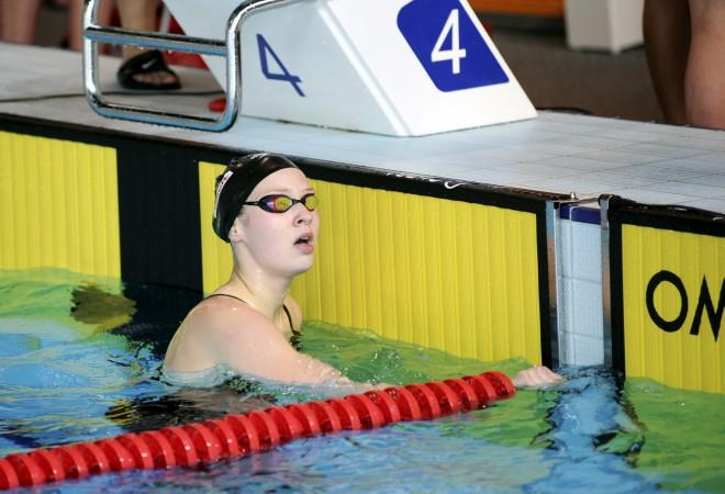 Ņikitinai jauns Latvijas rekords un 30. vieta 50 metros tauriņstilā