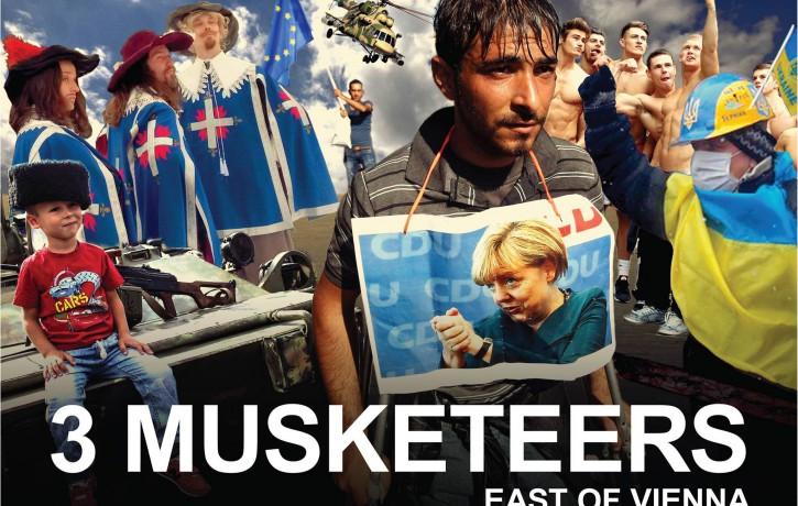 """Latvijas un Somijas mākslinieku sadarbības projekta """"3 musketieri. Uz austrumiem no Vīnes"""" pirmizrāde Helsinkos"""