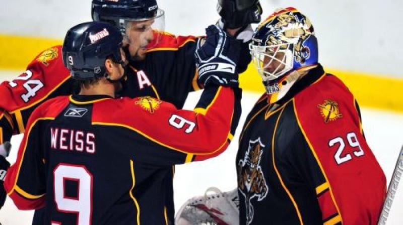 """""""Panthers"""" hokejisti Foto: AP"""