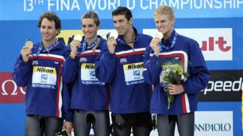 ASV 4 x 100 metru kombinētās stafetes komanda Foto: AP