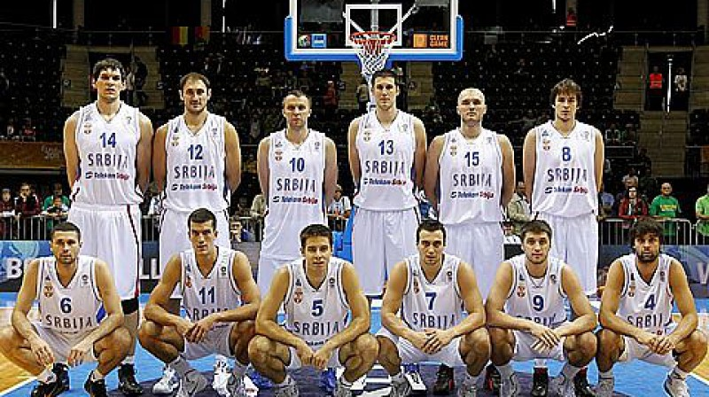 Serbijas vīriešu basketbola valstsvienība 2011 Foto: www.fibaeurope.com