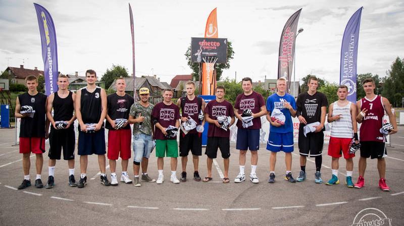 """Krāslavas """"Ghetto Basket"""" laureātu pulkā bijis arī Latvijas prezidents Raimonds Vējonis Publicitātes foto"""