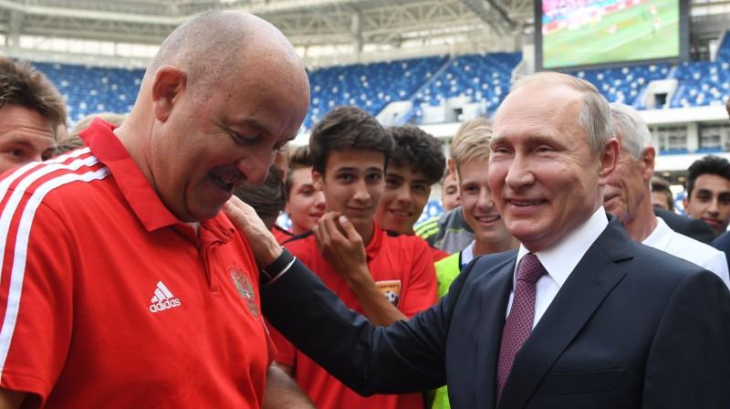 Staņislavs Čerčesovs un Vladimirs Putins Foto: Sputnik/Scanpix