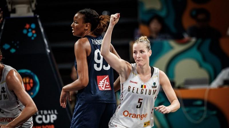 Kima Mestdaga un Beļģija: debitantes sasniedz Pasaules kausa pusfinālu. Foto: FIBA