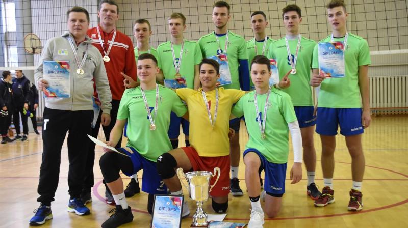 Uzvarētāji U-17 zēnu grupā Foto: Latvijas Volejbola federācija