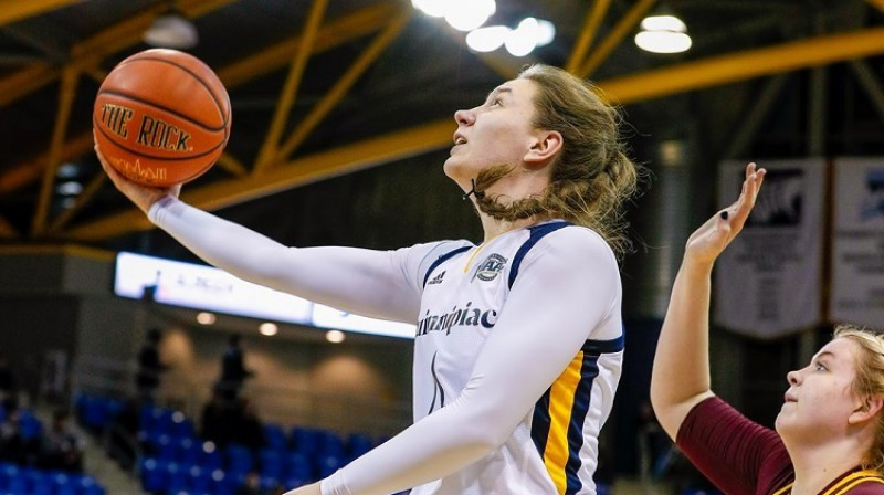 Paula Strautmane: 1005 punkti NCAA pirmās divīzijas spēlēs. Foto: Quinnipiac