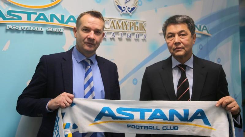 Pols Ašvorts (pa kreisi). Foto: fcastana.kz