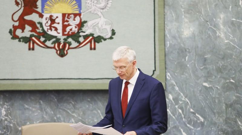 Ministru prezidents un Latvijas Nacionālās sporta padomes priekšsēdētājs Krišjānis Kariņš. Foto: Dmitrijs Suļžics/f64