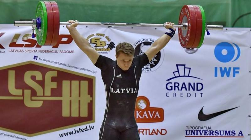 Armands Mežinskis. Foto: Latvijas Svarcelšanas federācija