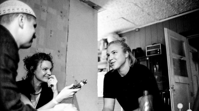Rūta Meilutīte intervijas laikā. Foto: Nanook