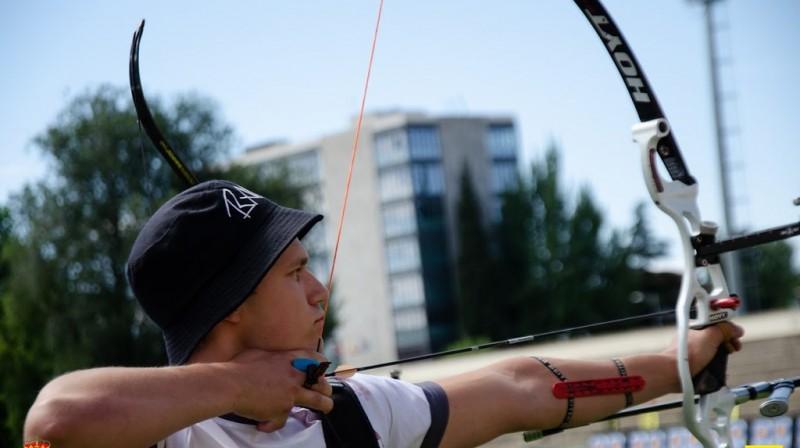 Dāvis Blāze. Foto: Latvijas Loka šaušanas federācija