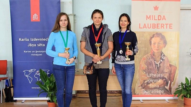 Latvijas čempionāta laureātes 2019. Foto: Sandra Harlinska