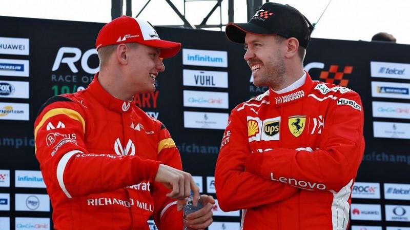 Miks Šūmahers un Sebastians Fetels. Foto: Motorsport.com