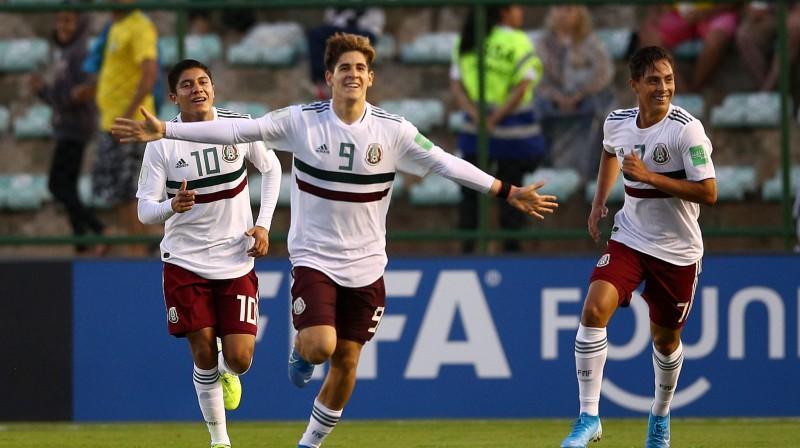 Meksikas U17 futbola izlases spēlētāji. Foto: fifa.com