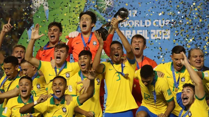 Brazīlijas U17 izlase. Foto: Reuters/Scanpix