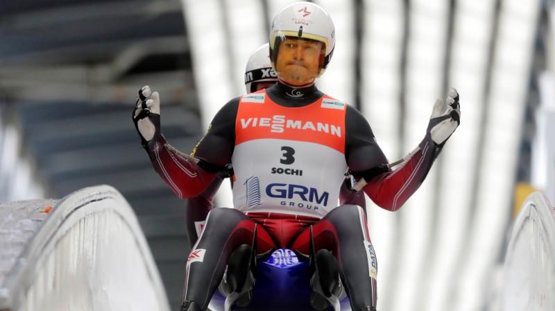 Andris un Juris Šici pasaules čempionātā. Foto: Reuters/Scanpix