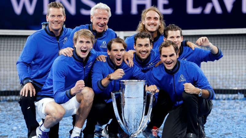 2019. gada Leivera kausa čempione Eiropas izlase. Foto: Reuters/Scanpix