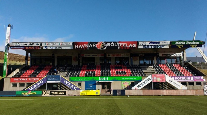 HB stadions. Foto: Havnar Boltfelag