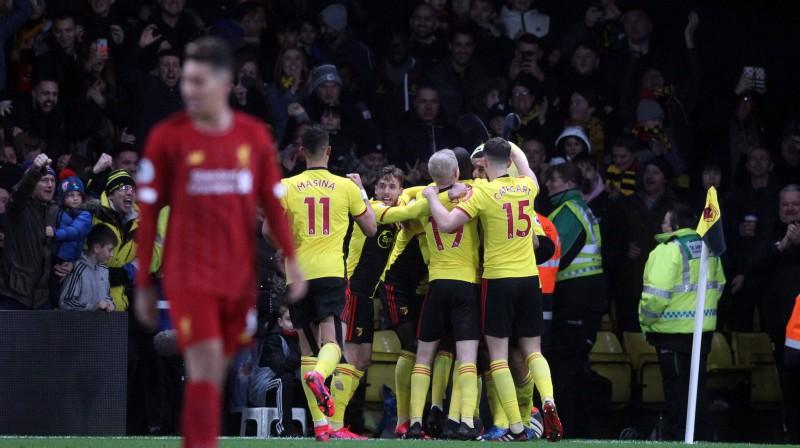 """""""Watford"""" triumfēja mačā pret """"Liverpool"""". Foto: Imago Sport/Scanpix"""