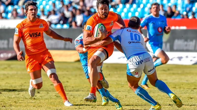 """Argentīnas """"Jaguares"""" un četri DĀR klubi, visdrīzāk, savas pēdējās """"Super Rugby"""" spēles ir aizvadījuši. Foto: AFP/Scanpix"""