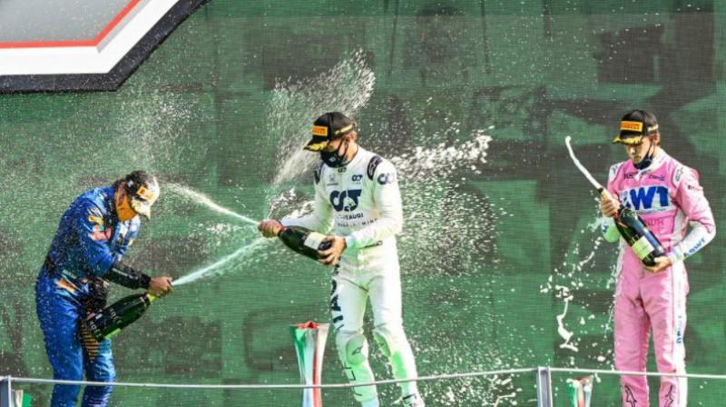 Moncas F1 posma pjedestāls. Foto: Motorsport.com