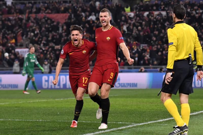 """Džeko gūst vienīgos vārtus, """"Roma"""" soļo tālāk"""