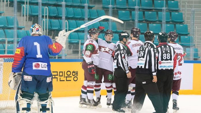 Latvijas hokeja izlase Dienvidkorejā centīsies pieveikt arī Japānu