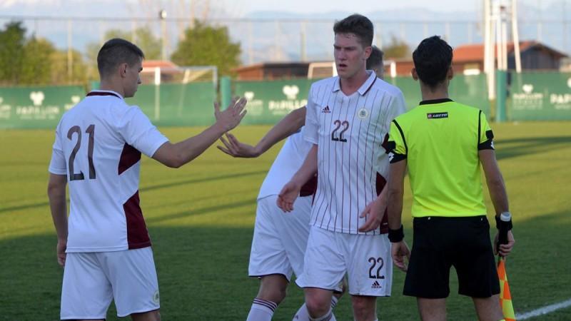 U21 futbolisti revanšējas nacionālās izlases vārdā un uzvar Ziemeļmaķedoniju