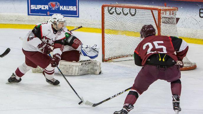 Hokeja valstsvienības kandidāti iemet sešus vārtus U18 izlasei