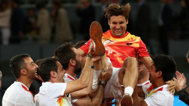 Spānijas tenisa kareivis Ferers Madridē aizvadījis pēdējo cīņu
