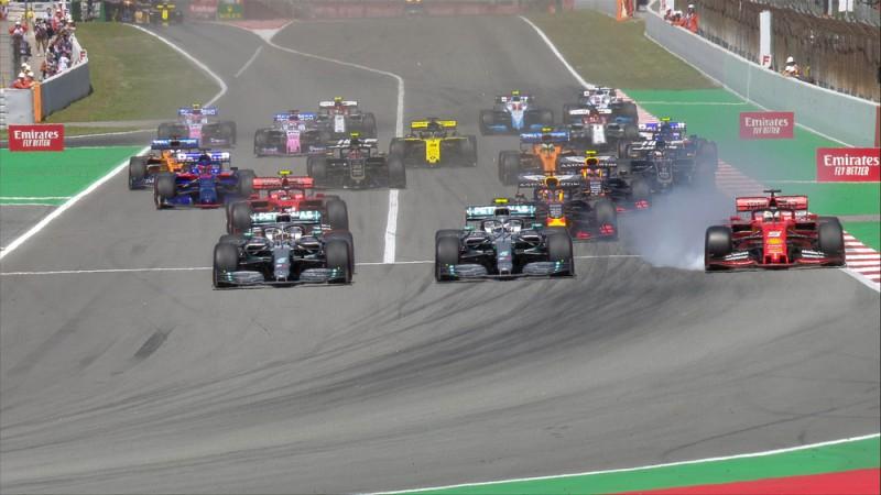 Hamiltons pēc veiksmīga starta uzvar Barselonas F1 posmā