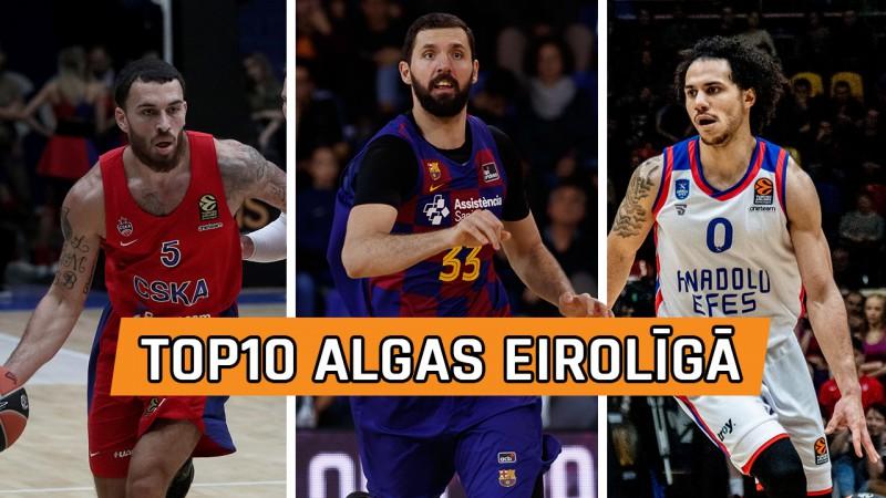 Top10 Eirolīgas pelnošākie basketbolisti: Mirotičs joprojām pirmais