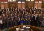Foto: Latvijas olimpieši viesojas Saeimas namā