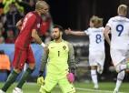 Sīkstā Islande debijā atņem punktus Portugālei