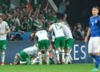 Īrija izcīna uzvaru pret Itāliju un iekļūst 1/8 finālā