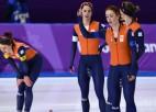 Nīderlandei fiasko komandu iedzīšanā ātrslidošanā - <i>tikai</i> sudrabs un bronza