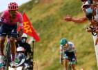 """""""Tour de France"""" turpina atgādināt Slovēnijas čempionātu, latvieši taupa spēkus"""