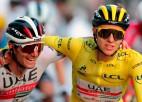 """Slovēnijā dzīres: Pogačars jaunākais """"Tour de France"""" čempions kopš 1904. gada"""